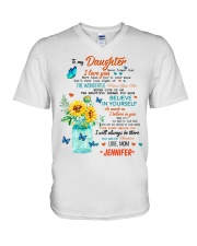 TO MY DAUGHTER V-Neck T-Shirt thumbnail