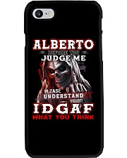 Alberto - IDGAF WHAT YOU THINK M003 Phone Case tile