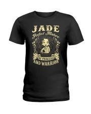 PRINCESS AND WARRIOR - JADE Ladies T-Shirt front