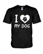 I love my dog V-Neck T-Shirt thumbnail