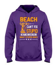 BEACH - FIX WHAT STUPID DOES Hooded Sweatshirt thumbnail
