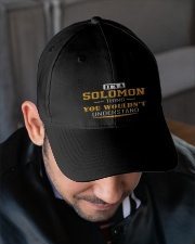 SOLOMON - THING YOU WOULDNT UNDERSTAND Embroidered Hat garment-embroidery-hat-lifestyle-02