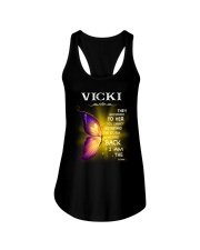 Vicki - I Am The Storm TCH1 Ladies Flowy Tank front