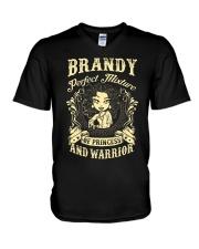 PRINCESS AND WARRIOR - Brandy V-Neck T-Shirt thumbnail