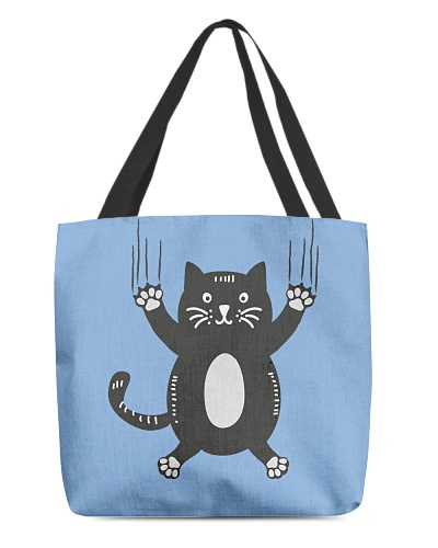 Funny Black Cat Holding On