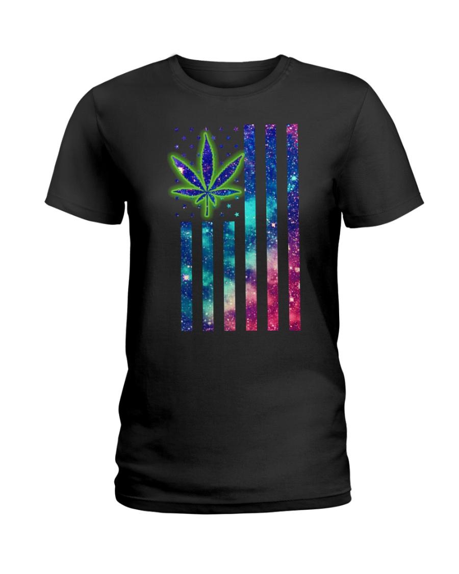 Weed flag Ladies T-Shirt