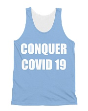 Conquer covid 19 All-Over Unisex Tank tile