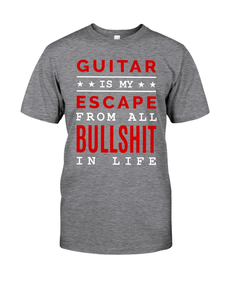 Guitar is my escape Classic T-Shirt