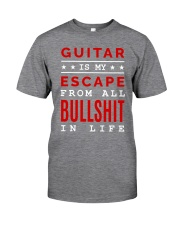 Guitar is my escape Classic T-Shirt front