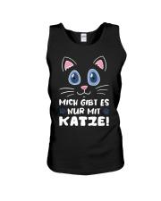 Mich Gibt Es Nur Mit Katze Unisex Tank thumbnail