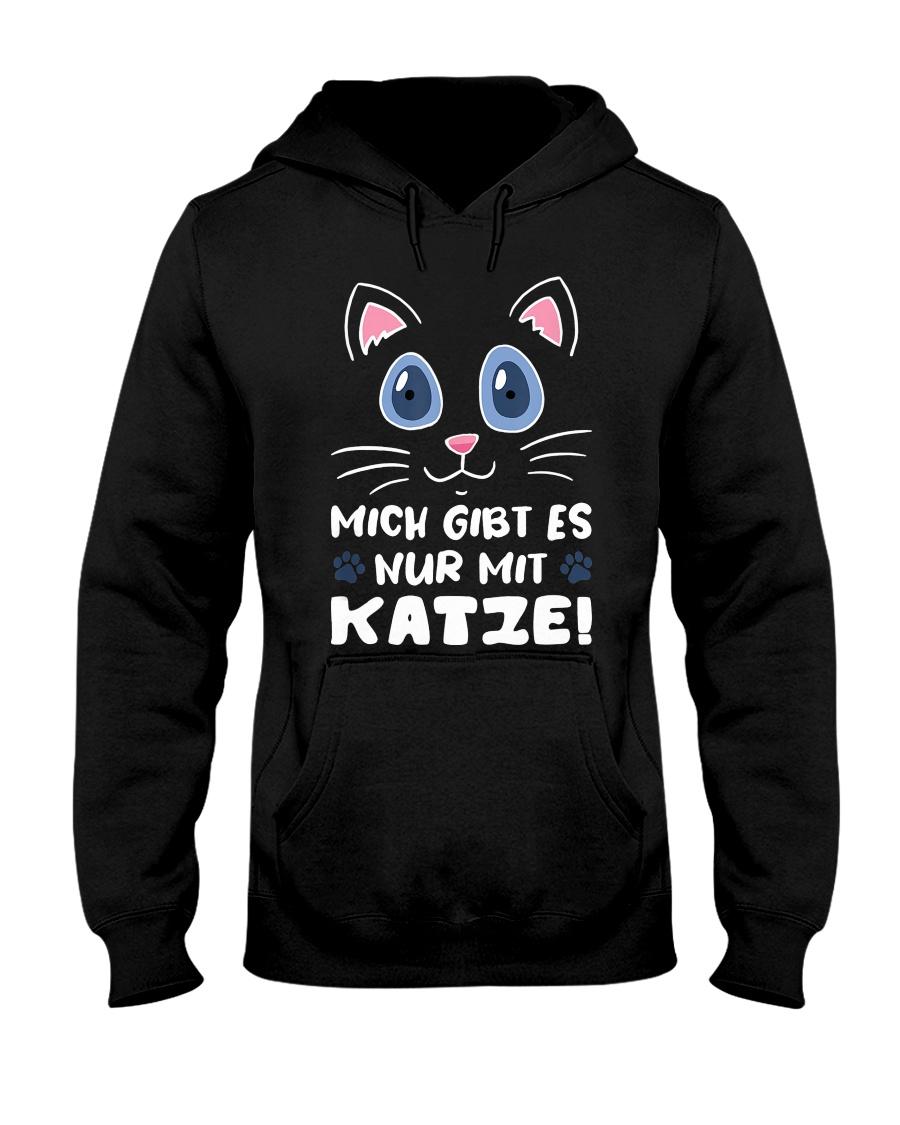 Mich Gibt Es Nur Mit Katze Hooded Sweatshirt