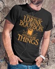 I Drink Bourbon Classic T-Shirt lifestyle-mens-crewneck-front-4