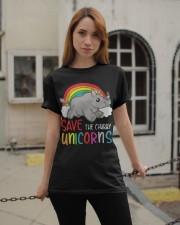 Save The Chubby Unicorns Classic T-Shirt apparel-classic-tshirt-lifestyle-19