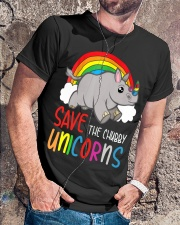 Save The Chubby Unicorns Classic T-Shirt lifestyle-mens-crewneck-front-4