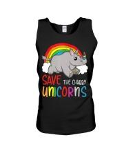 Save The Chubby Unicorns Unisex Tank tile