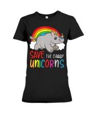 Save The Chubby Unicorns Premium Fit Ladies Tee tile
