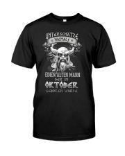 Oktober Geboren Wurde Classic T-Shirt front