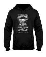 Oktober Geboren Wurde Hooded Sweatshirt tile