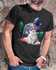 Cat Halloween Classic T-Shirt lifestyle-mens-crewneck-front-4