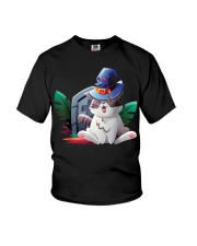 Cat Halloween Youth T-Shirt thumbnail