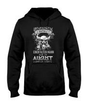 August Geboren Wurde Hooded Sweatshirt tile