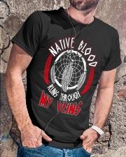 Native Blood Runs Through My Veins Classic T-Shirt lifestyle-mens-crewneck-front-4