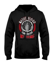 Native Blood Runs Through My Veins Hooded Sweatshirt thumbnail