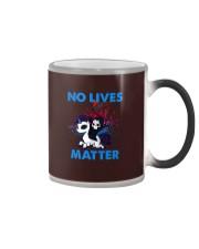No Lives Matter Color Changing Mug tile