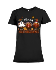HaloThanksGiveMas Premium Fit Ladies Tee thumbnail