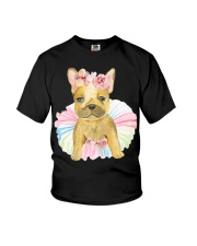 Funny French bulldog Youth T-Shirt tile