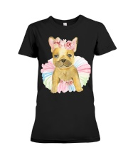 Funny French bulldog Premium Fit Ladies Tee tile