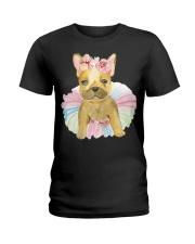Funny French bulldog Ladies T-Shirt tile
