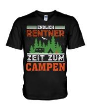 Zeit zum campen V-Neck T-Shirt thumbnail