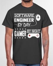 Gamer by night Classic T-Shirt garment-tshirt-unisex-front-03