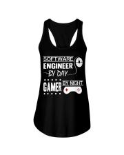 Gamer by night Ladies Flowy Tank thumbnail