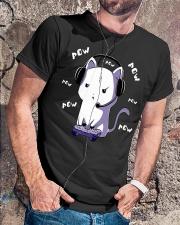 Pow Cat Classic T-Shirt lifestyle-mens-crewneck-front-4