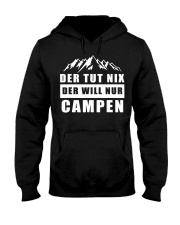 Der will nur campen Hooded Sweatshirt thumbnail