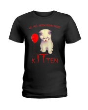 Halloween Kitten Ladies T-Shirt tile