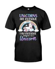 Unicorns are Awesome Classic T-Shirt thumbnail