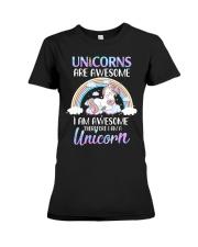 Unicorns are Awesome Premium Fit Ladies Tee thumbnail