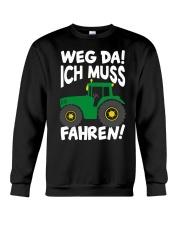 Weg da ich muss Traktor fahren Crewneck Sweatshirt tile