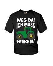 Weg da ich muss Traktor fahren Youth T-Shirt tile