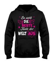 So sieht die beste Tante der Welt aus Hooded Sweatshirt front