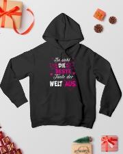 So sieht die beste Tante der Welt aus Hooded Sweatshirt lifestyle-holiday-hoodie-front-2