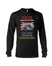 Papa The Man The Myth The Bad Influence Long Sleeve Tee thumbnail