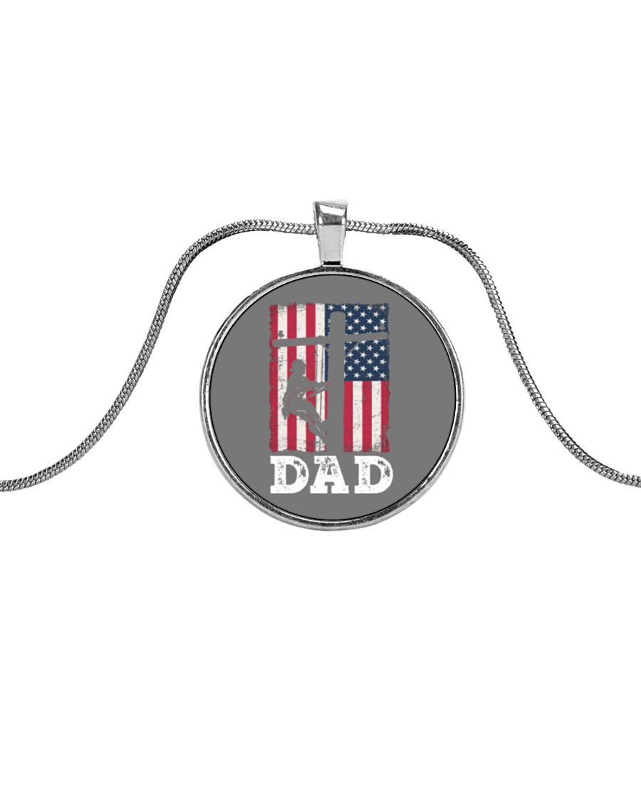 father day Metallic Circle Necklace