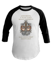 Swordwoman US T-shirt Baseball Tee thumbnail