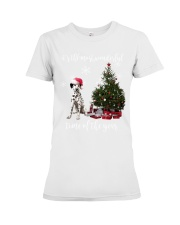 christmas Dalmatian Premium Fit Ladies Tee thumbnail