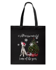 christmas Dalmatian Tote Bag thumbnail