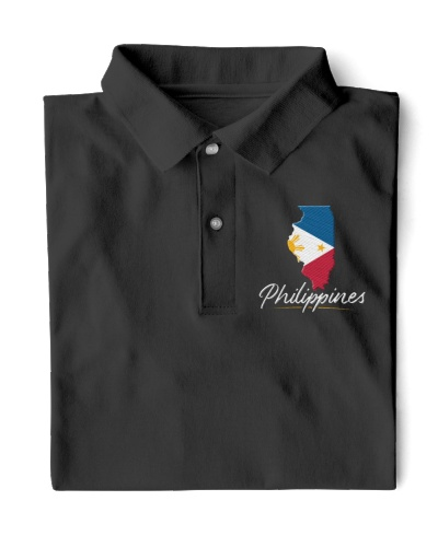 Illinois With Philippines Flag Embroidery Design